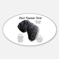 Black Russian Oval Decal