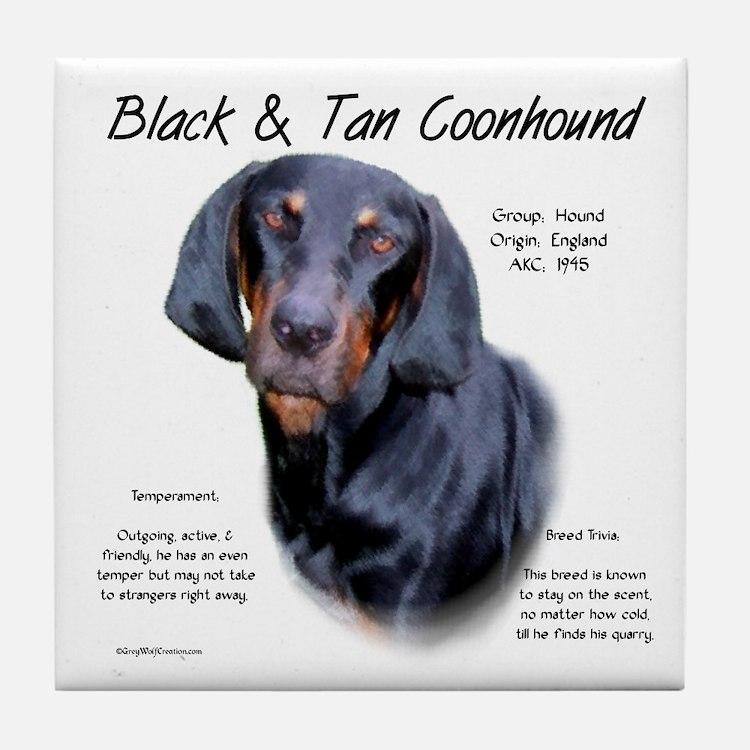Black & Tan Tile Coaster