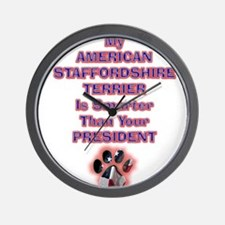 amstaffpresident.png Wall Clock