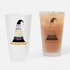 Love Being Witchy Drinking Glass