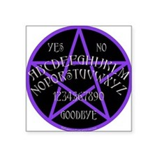 "PurplePentagramDwhite.png Square Sticker 3"" x 3"""