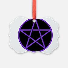 Purple/Black Pentagram Ornament