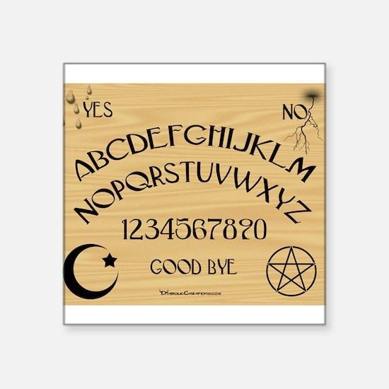 "Traditional Talking Board Square Sticker 3"" x 3"""