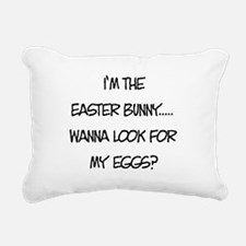 Wanna Look for my Eggs? Rectangular Canvas Pillow