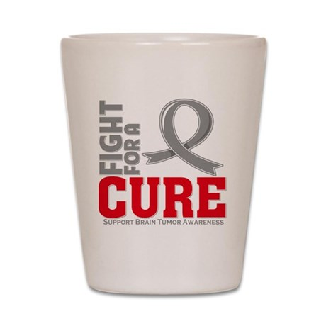 Brain Tumor Fight For A Cure Shot Glass