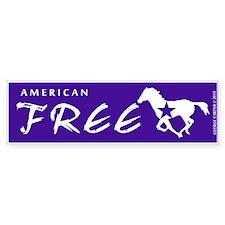 American Free Wild Mustang Bumper Bumper Sticker