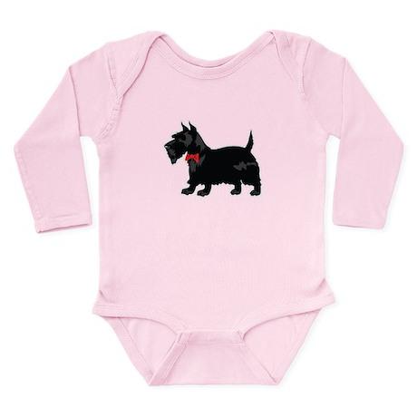 Scottish Terrier Long Sleeve Infant Bodysuit
