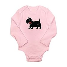 Scottish Terrier Long Sleeve Infant Bodysuit