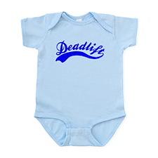 Team Deadlift Blue Infant Bodysuit