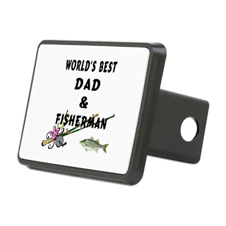 Worlds Best Dad and Fisher Rectangular Hitch Cover