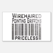 Wirehaired Pointing Griffons Rectangle Decal