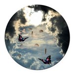 Pennies From Heaven Round Car Magnet
