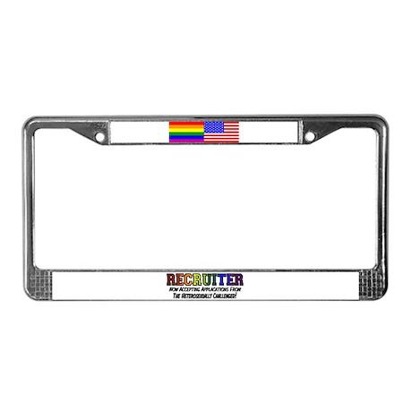 Recruiter License Plate Frame