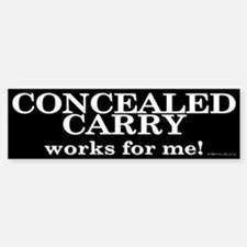 Concealed Carry Bumper Bumper Bumper Sticker