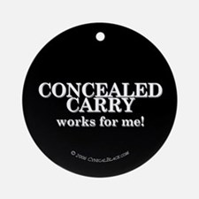 Concealed Carry Ornament (Round)