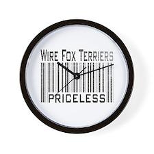 Wire Fox Terriers Wall Clock