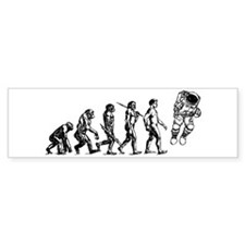 Astronaut Evolution Bumper Sticker