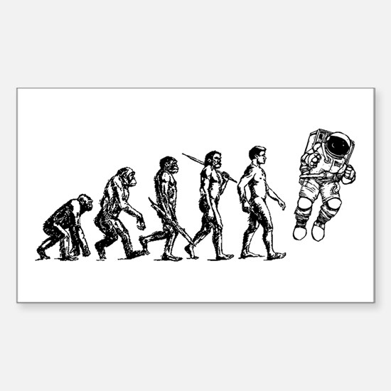 Astronaut Evolution Sticker (Rectangle)