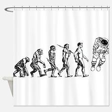 Astronaut Evolution Shower Curtain