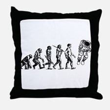 Astronaut Evolution Throw Pillow
