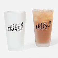 Astronaut Evolution Drinking Glass