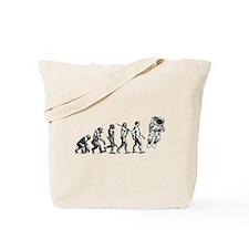 Astronaut Evolution Tote Bag