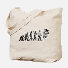 Astronaut Evolution Tote Bag