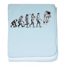 Astronaut Evolution baby blanket