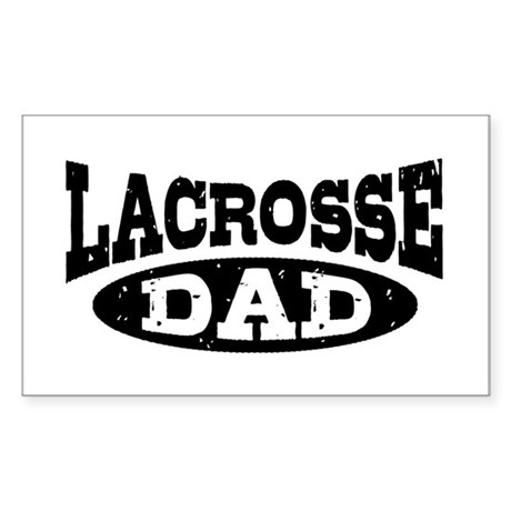 Lacrosse Dad Sticker (Rectangle)