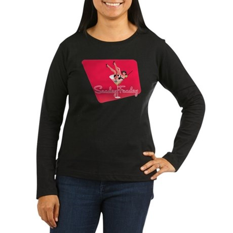 Vintage Sunday Funday Tee Women's Long Sleeve Dark