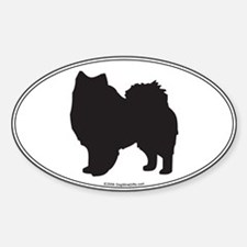 Eskie Silhouette Oval Decal