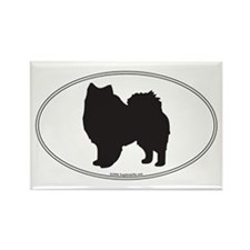 Eskie Silhouette Rectangle Magnet