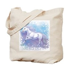Unicorn Over The Rainbow Tote Bag