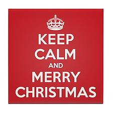 Keep Calm Merry Christmas Tile Coaster