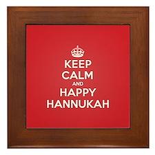 Keep Calm Happy Hannukah Framed Tile