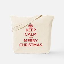 Keep Calm Merry Christmas Tote Bag