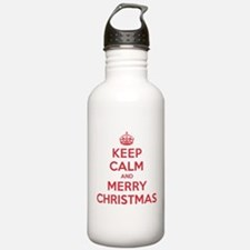 Keep Calm Merry Christmas Water Bottle