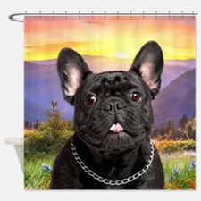 French Bulldog Meadow Shower Curtain