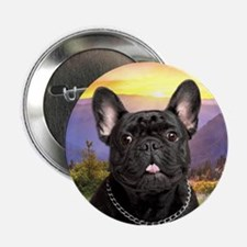 "French Bulldog Meadow 2.25"" Button"