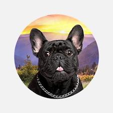 "French Bulldog Meadow 3.5"" Button"