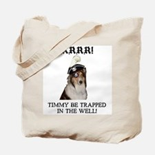 Pirate Collie Tote Bag