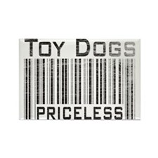 Toy Dogs Rectangle Magnet
