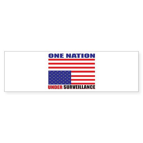 One Nation, Under Surveillanc Bumper Sticker