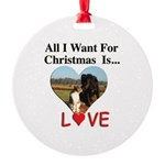 Christmas Love Round Ornament