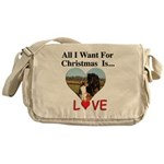Christmas Love Messenger Bag