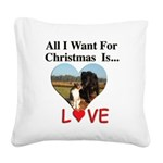 Christmas Love Square Canvas Pillow