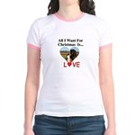 Christmas Love Jr. Ringer T-Shirt