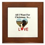 Christmas Love Framed Tile