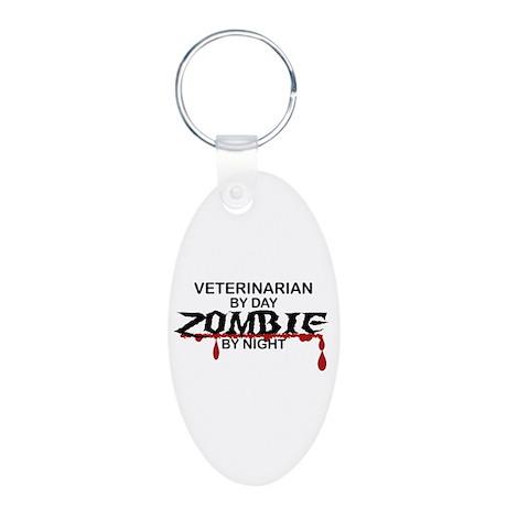 Veterinarian Zombie Aluminum Oval Keychain