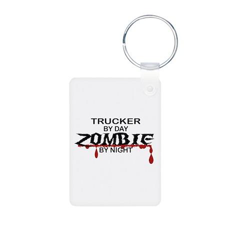 Trucker Zombie Aluminum Photo Keychain